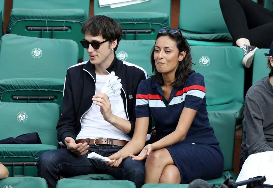 Leïla Kaddour-Boudadi et son compagnon Pierre Guenard à Roland Garros le 30 mai 2018