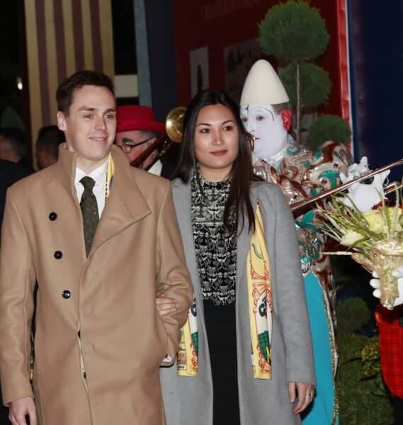 Marie Chevallier et Louis Ducruet Soirée d'ouverture du 42ème Festival International du Cirque de Monte-Carlo