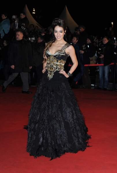 Sofia Essaidi sur le tapis rouge des NRJ Music Awards à Cannes en 2012