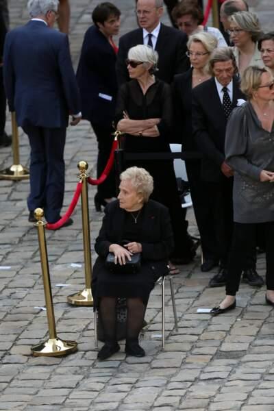 Bernadette Chirac asssise lors de l' Hommage national a Simone Veil aux Invalides à Paris le 5 Juillet 2017