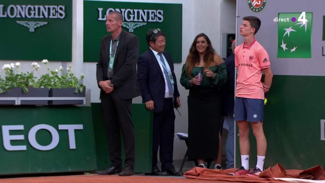 Marion Bartoli à Roland-Garros tout sourire
