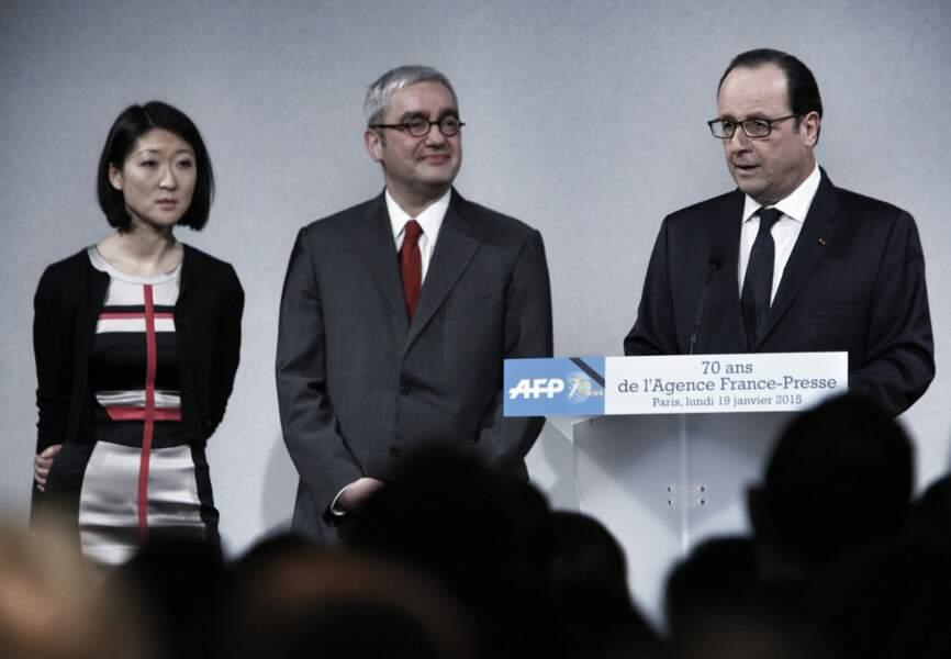 Fleur Pellerin, Emmanuel Hoog et François Hollande