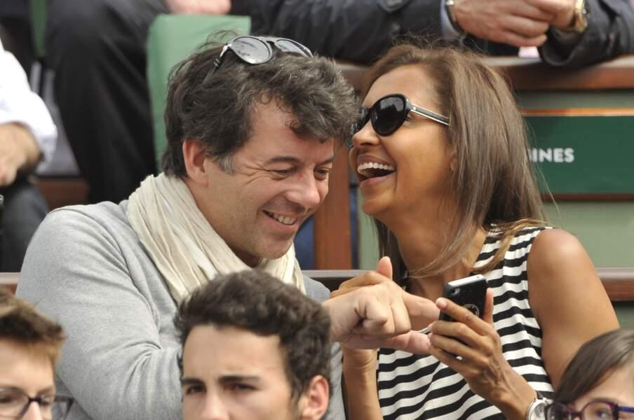 Karine Le Marchand et Stéphane Plaza à Roland Garros à Paris, le 29 mai 2014