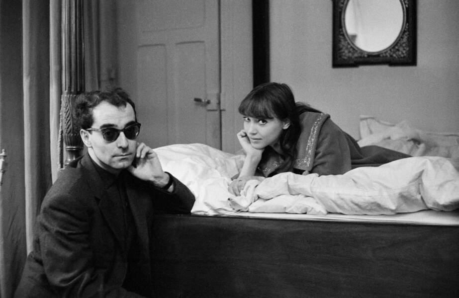 Jean-Luc Godard et Anna Karina (1960)
