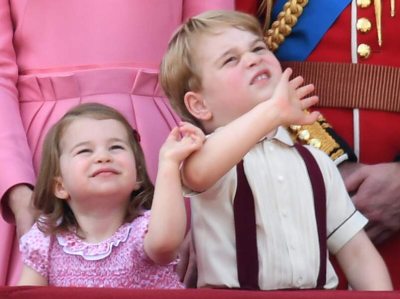 Princesse Charlotte et Prince George, à Buckingham Palace