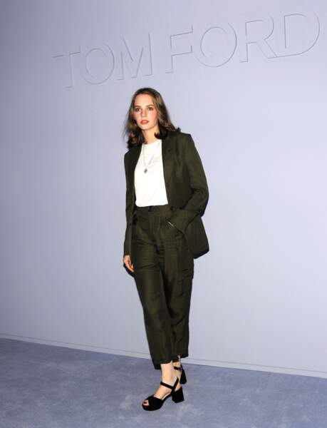 Maya Thurman-Hawke au défilé Tom Ford à New York le 8 février 2018