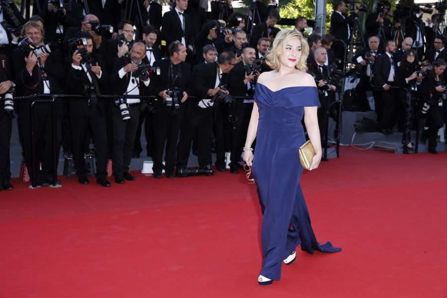 """Au Festival de Cannes en 2013, lors de la montée des marches du film """"Le Passe"""""""