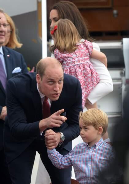 Le prince William et le prince George en Pologne