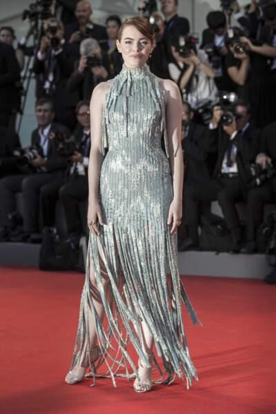 Emma Stone en Atelier Versace