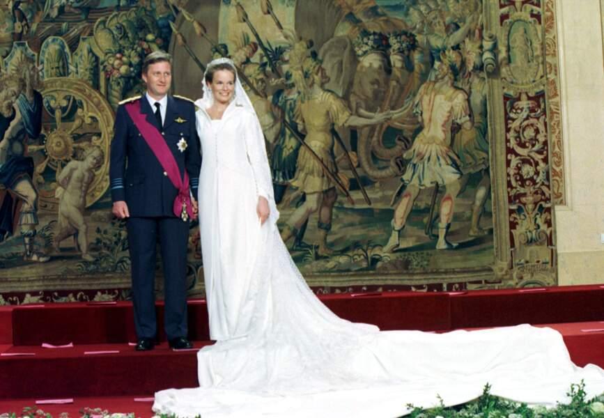 Mariage du Prince Philippe de Belgique et de Mathilde d'Udekem en 1999