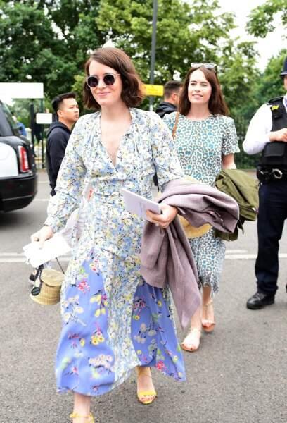 l'actrice Claire Foyle 14 juillet 2019 adopte elle aussi la tendance robe fleurie