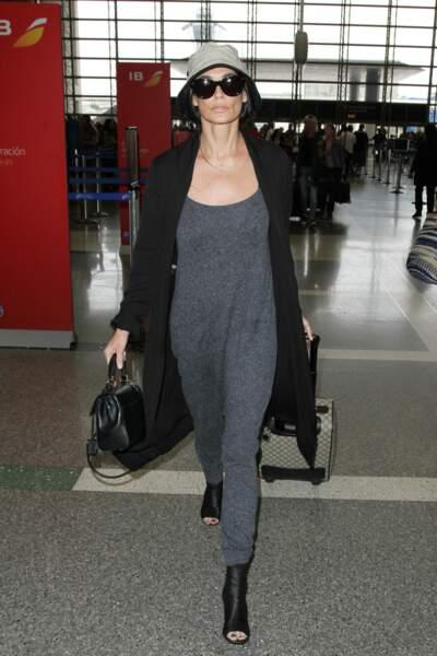 Demi Moore à l'aéroport de Los Angeles, en 2015