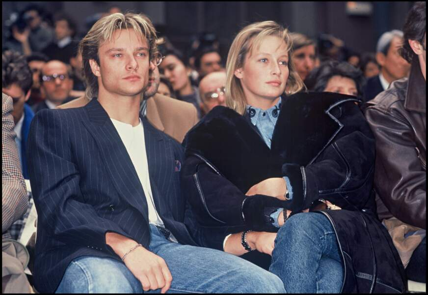 David et Estelle Lefébure, la mère d'Ilona, 7 mois avant leur mariage célébré en septembre 1989 en Normandie.