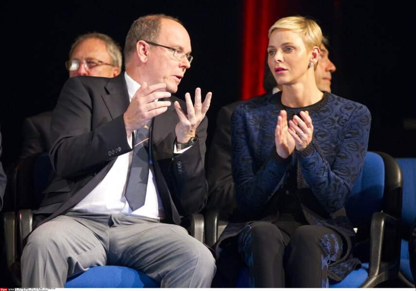 Le couple princier aux championnats du monde d'aviron