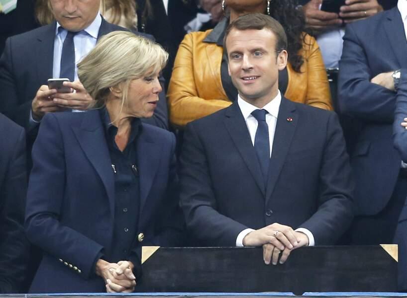 La veste de Brigitte Macron est griffée Balmain