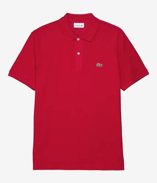 Polo en coton, 95 € (Lacoste sur Sportyhenri.com)