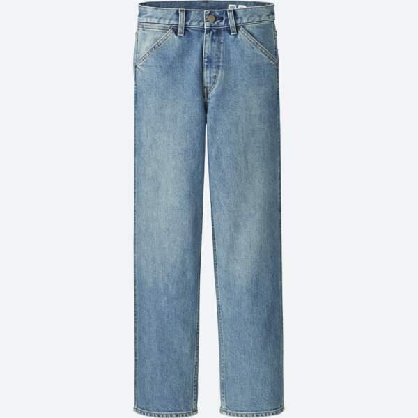 Court, jeans 7/8 disponible en blanc et en noir, 39,90 € (Uniqlo U).