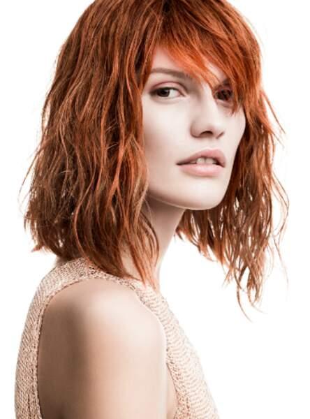 Le carré effet beach hair (Christophe Gaillet - L'Oréal Professionnel)