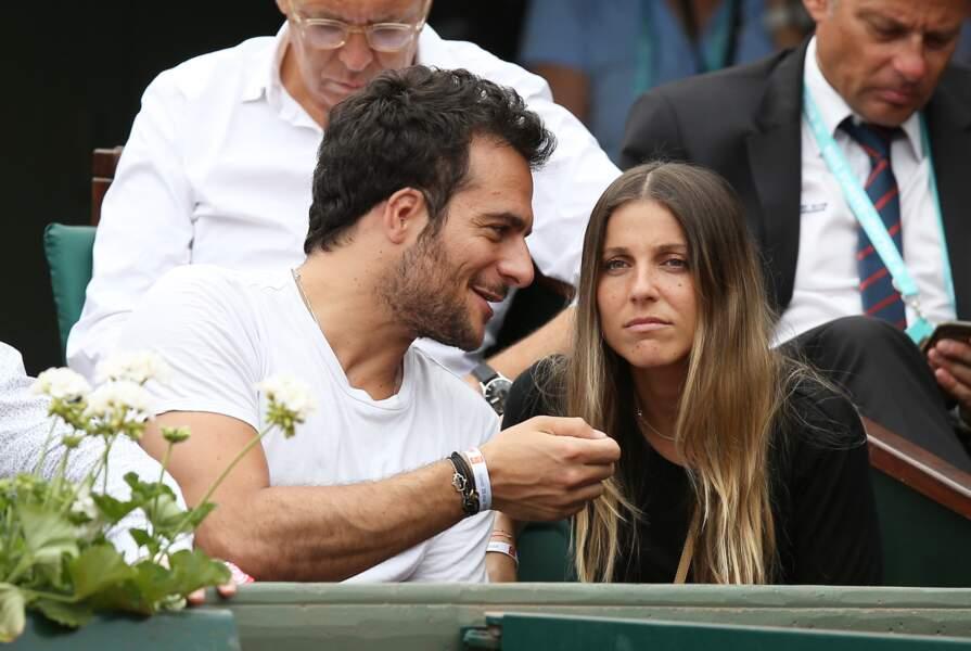 Amir Haddad et sa femme Lital à Roland-Garros le 28 mai 2018