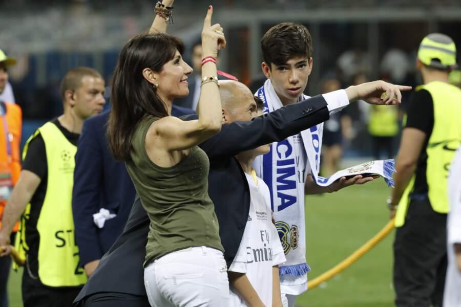 Zinedine Zidane, sa femme Veronique et deux de leurs fils - ABACA