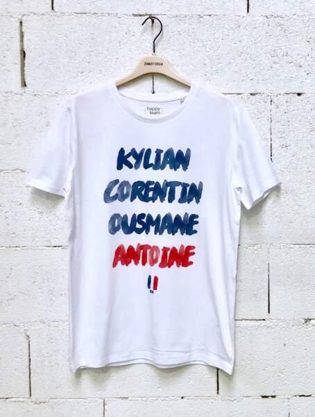 Le tee-shirt personnalisable sur happyteam.fr