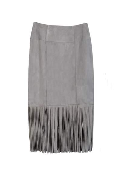 Ethnique, jupe en cuir Mac Douglas, 690 € (macdouglas.fr)