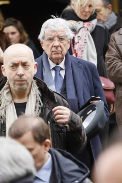 Jean-Pierre Chevènement lors des obsèques de Michel Legrand en la cathédrale orthodoxe Saint-Alexandre-Nevsky