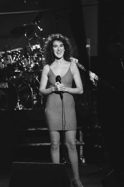Céline Dion à ses débuts, une vraie fille toute frisée