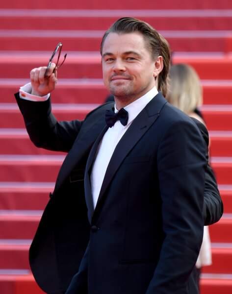 "Leonardo DiCaprio en costume Giorgio Armani à la première de ""Once upon a time... in Hollywood"" le 21 mai 2019"