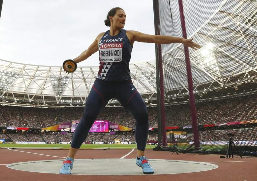 À 38 ans, Mélina Robert-Michon elle est la seule athlète féminine a remporté un titre