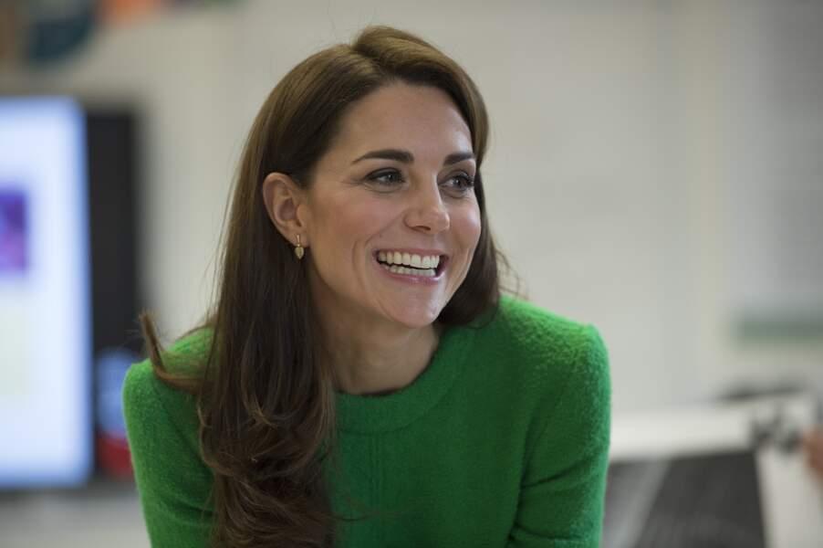 Une Kate Middleton tout sourire !