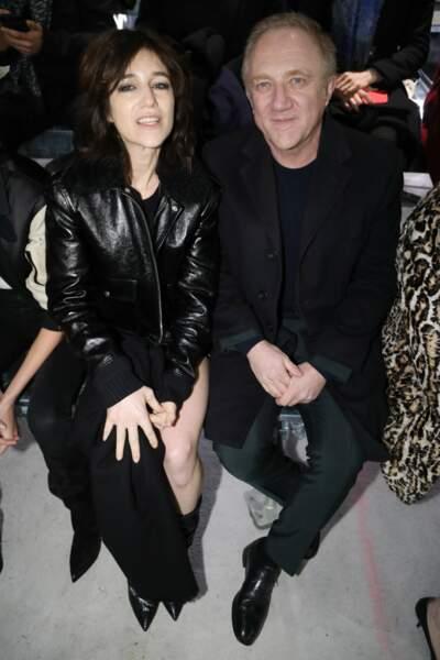 Charlotte Gainsbourg et François-Henri Pinault au défilé Saint Laurent