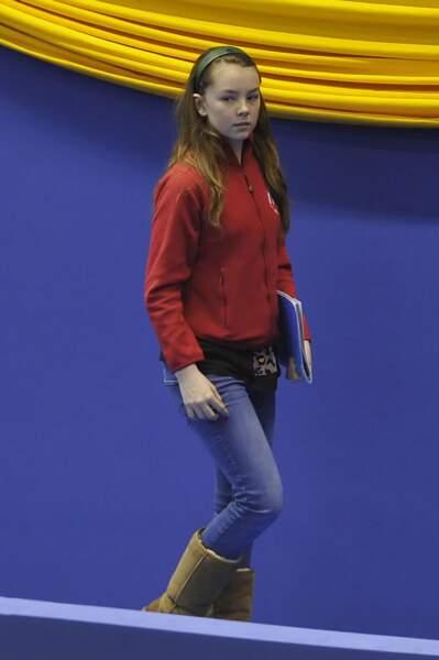 La princesse Alexandra de Hanovre aux mondiaux de patinage le 28 mars 2012