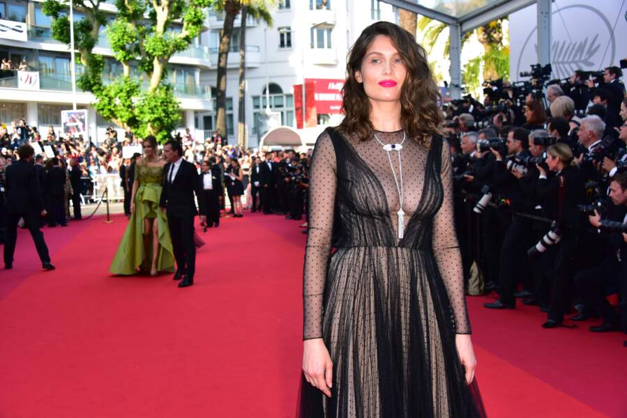 Laetitia Casta sublime en robe transparente à Cannes 2017