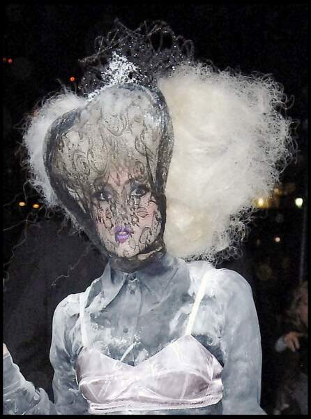 La coiffure improbable de Lady Gaga
