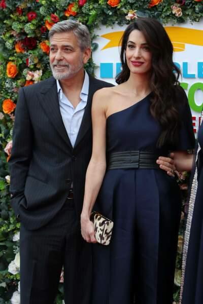 Amal Clooney et George Clooney ultra chic pour recevoir un prix pour leur engagement caritatif