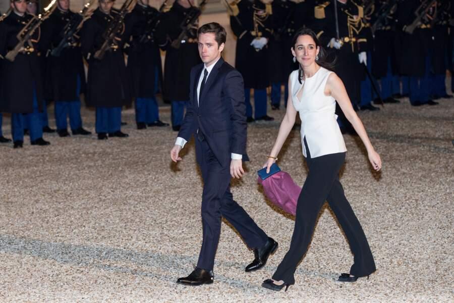 Brune Poirson et son mari à l'Elysée pour un dîner d'Etat à l'Elysée
