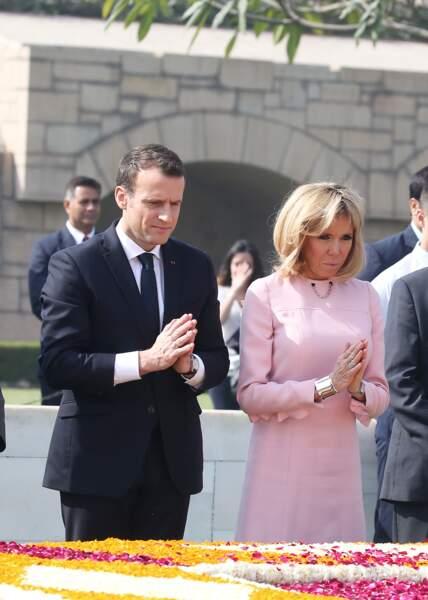 Le président et sa femme sont en visite d'Etat en République de l'Inde du 9 au 12 mars 2018.