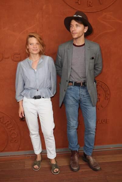Mélanie Thierry et son compagnon Raphaël à Roland Garros à Paris le 8 juin 2018
