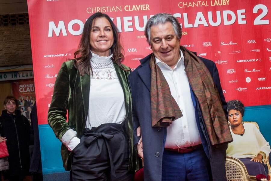 Pour cette sortie à Berlin, Christian Clavier est venu accompagné de sa compagne Isabelle de Araujo