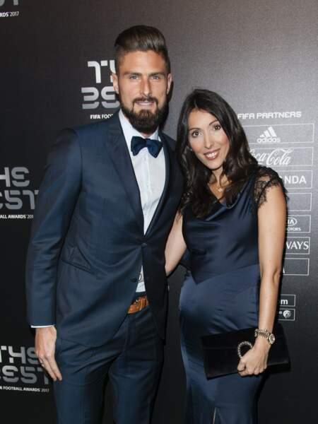 Olivier Giroud est déjà papa de deux enfants prénommés Jade et Evan