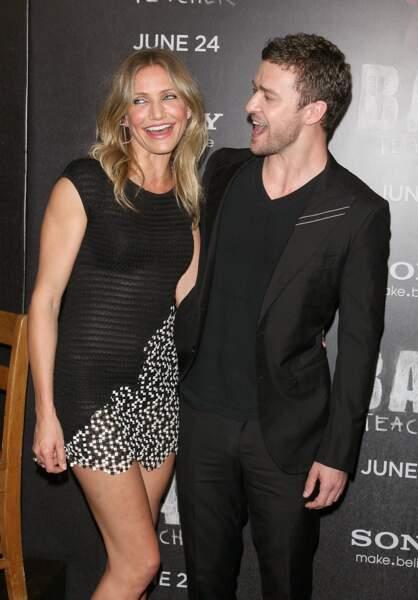 """Cameron Diaz et Justin Timberlake à la première du film """"Bad Teacher"""" à New York en 2011"""