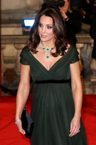 Kate Middleton au Royal Abert Hall à Londres, le 18 février 2018