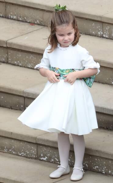 La princesse Charlotte au mariage d'Eugénie