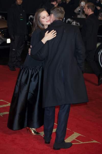 Marion Cotillard et Brad Pitt sur le tapis rouge, à Londres