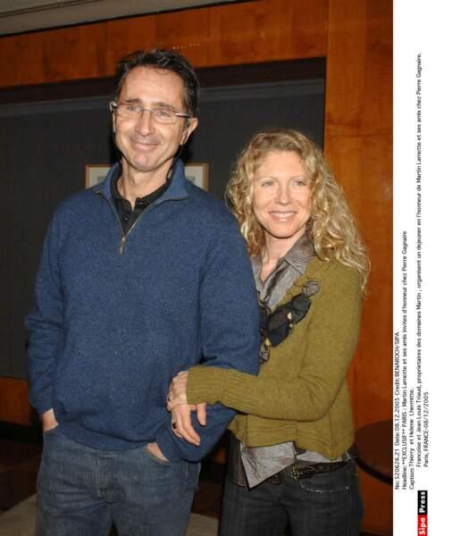 2005. Thierry Lhermitte et sa femme