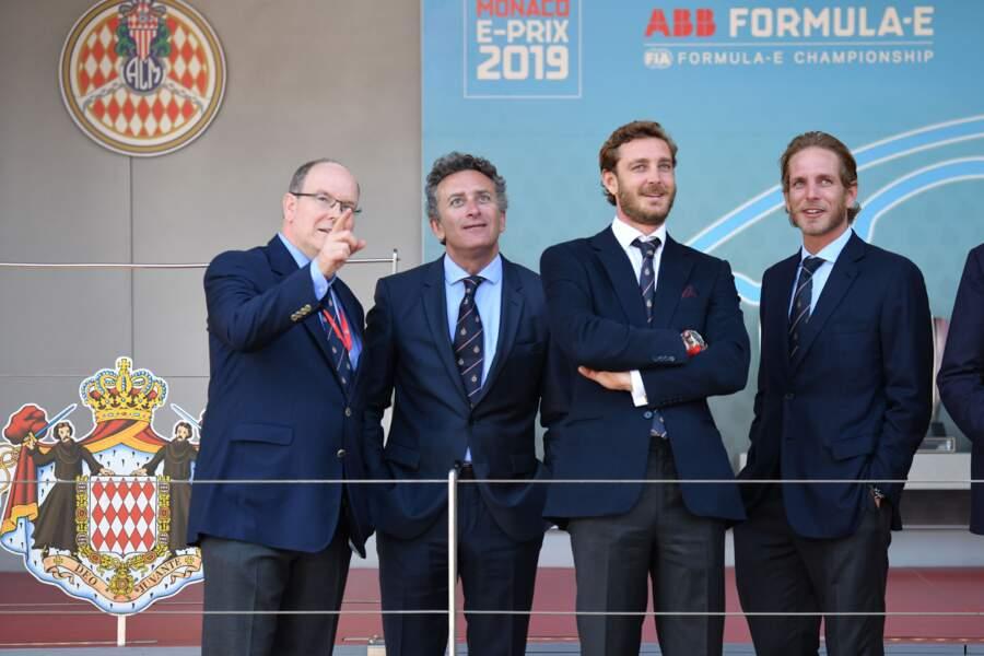 Le prince Albert II était accompagné de ses neveux Pierre et Andrea Casiraghi