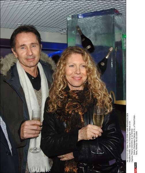 2006. Champagne pour Thierry Lhermitte et sa femme