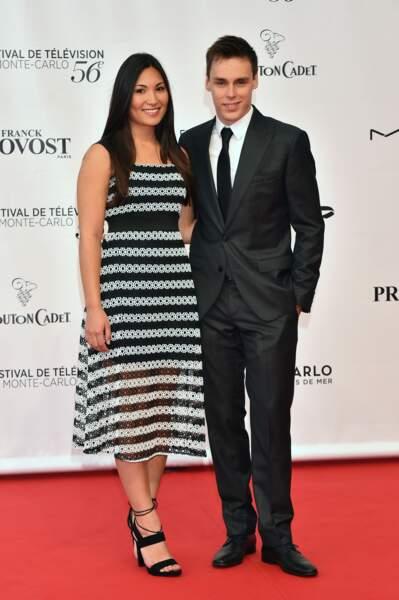 Première sortie sous les flash pour Louis Ducruet et Marie Chevallier, ils ont 22 ans le 12 juin 2016