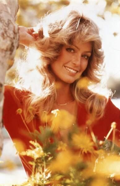 Farrah Fawcett en 1977 à Los Angeles